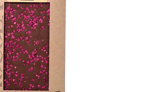 Tablette chocolat lait - roses cristallisées - Bovetti