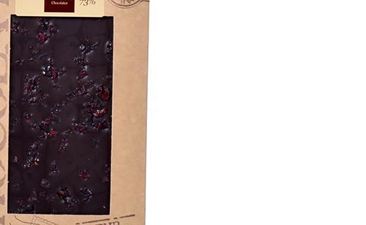 Tablette chocolat noir - cranberries - Bovetti