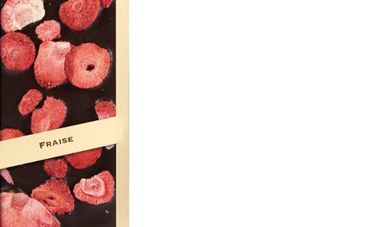 Tablette chocolat noir - fraise - Comptoir du Cacao