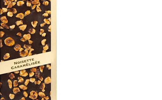 Tablette chocolat noir - noisette caramélisée - Comptoir du Cacao