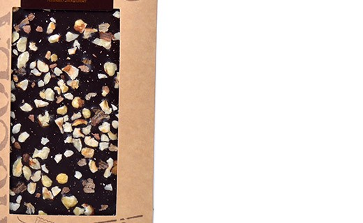 Tablette chocolat noir - noisettes bio - Bovetti