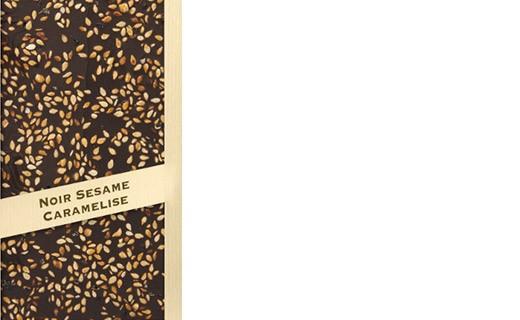 Tablette chocolat noir - sésame caramélisé - Comptoir du Cacao