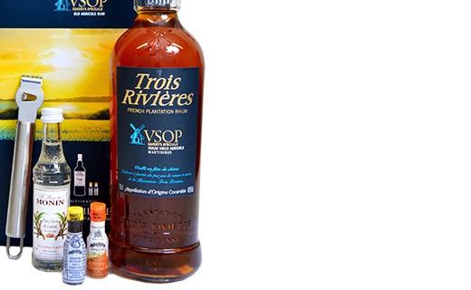 Coffret cocktail Old Fashioned - Rhum Trois Rivières VSOP et ses ustensiles - Trois Rivières