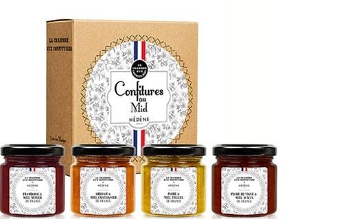 Coffret confitures au miel - Hédène