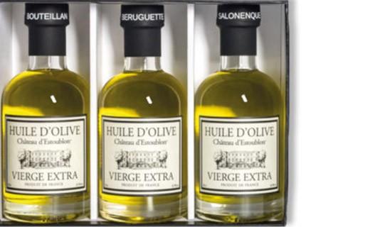 Coffret découverte - huiles d'olive monovariétales - Château d'Estoublon