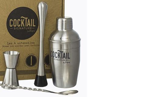 Coffret mixologie - cocktail signature 4 ustensiles - Dugas