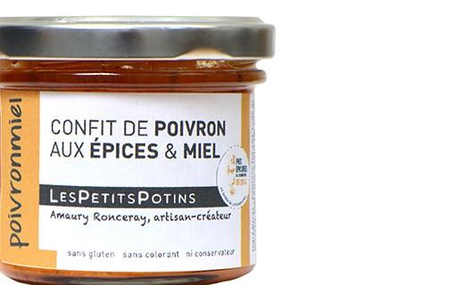 Confit de poivron aux épices et au miel - Poivronmiel - Les Petits Potins