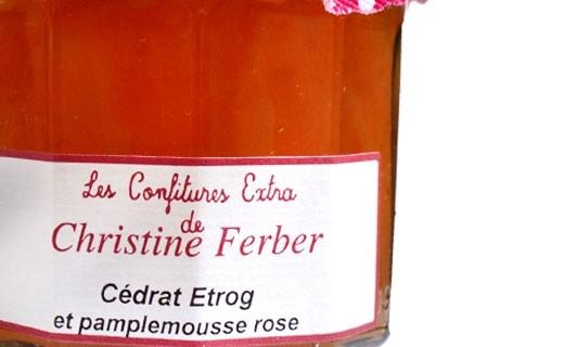 Confiture de Cédrat Etrog et pamplemousse rose - Christine Ferber