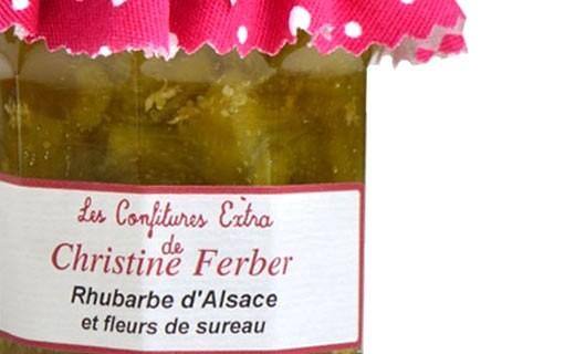 Confiture de rhubarbe d'Alsace et fleurs de sureau - Christine Ferber