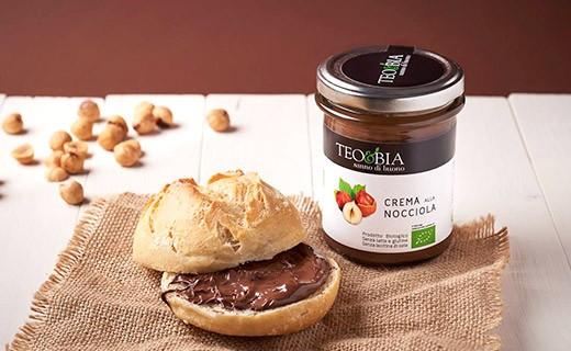 Pâte à tartiner - crème de noisettes du Piémont bio - Teo & Bia