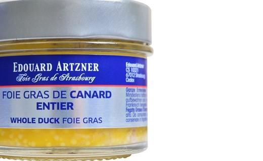 Foie gras de canard entier 100 g - bocal - Edouard Artzner