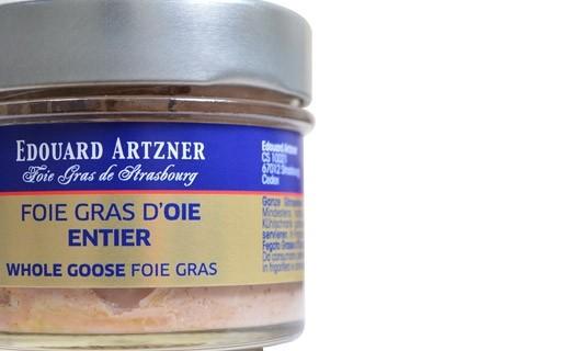 Foie gras d'oie entier 100 g - bocal - Edouard Artzner