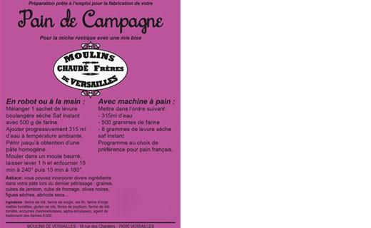 Farine pour Pain de Campagne - Moulins de Versailles