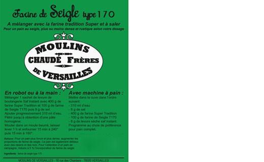 Farine de Seigle - type 170 - Moulins de Versailles