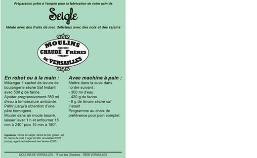 Farine pour Pain de Seigle - Moulins de Versailles