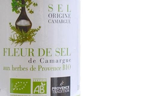 Fleur de sel de Camargue aux herbes de Provence bio - Provence Tradition