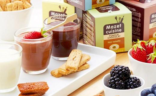 Fondue au chocolat - Noir et Noisette - Mazet