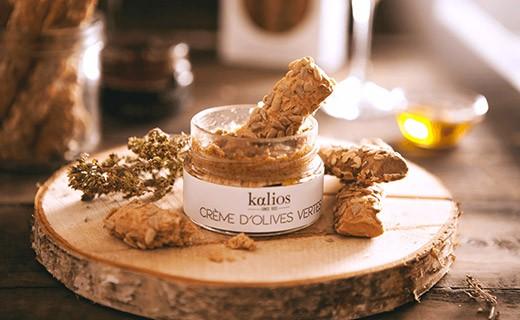 Gressins Crétois - olives de Kalamata & flocons d'avoines - Kalios