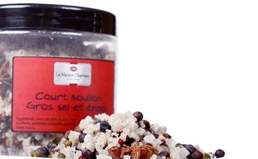 Gros sel aux épices - Court Bouillon du Cuisinier - Maison Charteau