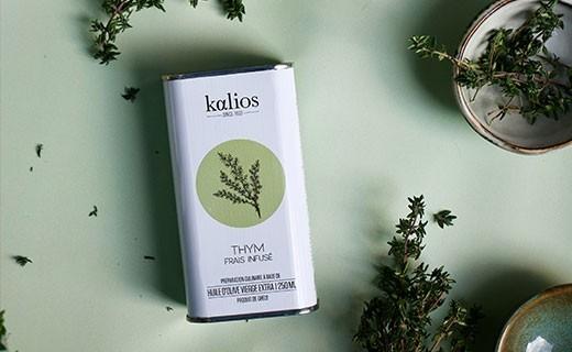 Huile d'olive infusée au thym - Kalios