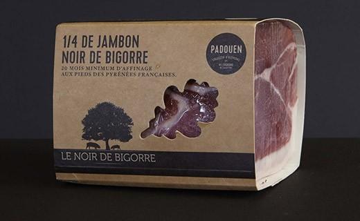 Jambon de porc noir de Bigorre - quart, sans os, découenné et dégraissé - Padouen