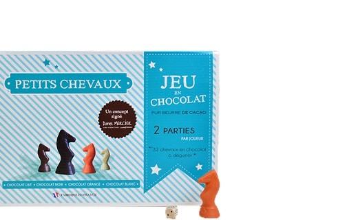 Jeu des petits chevaux en chocolat  - Chocolaterie Daniel Mercier