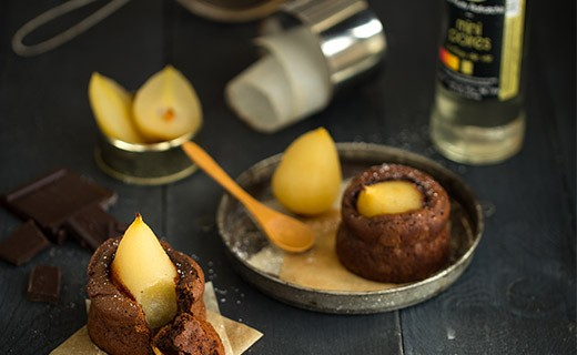 Mini poires rafraîchies à l'eau de vie de poire - Vergers de Gascogne