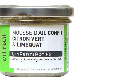Mousse d'ail confit au citron vert et limequat - Citrail - Petits Potins (Les)