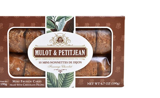 Mini-nonnettes de Dijon - saveur chocolat - Mulot & Petitjean