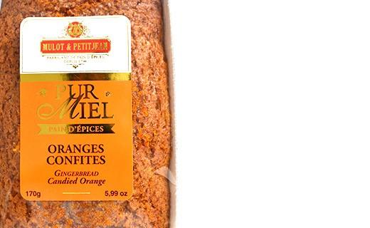 Pain d'épices pur miel - Oranges confites - Mulot & Petitjean