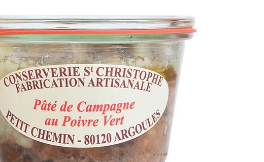 Pâté de campagne au poivre vert - Conserverie Saint-Christophe