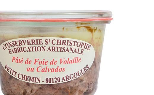 Pâté de foie de volaille au Calvados - Conserverie Saint-Christophe
