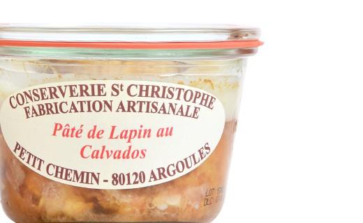 Pâté de lapin au Calvados - Conserverie Saint-Christophe