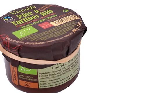 Pâte à tartiner - chocolat noir et noisettes bio - Bovetti