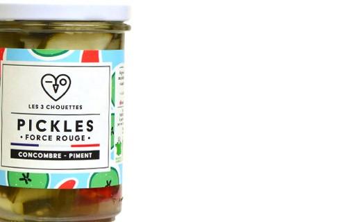 Pickles de concombre au piment - Force Rouge - Les 3 Chouettes
