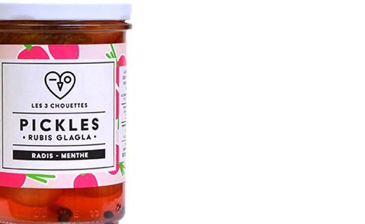 Pickles de radis à la menthe - Rubis Glagla - Les 3 Chouettes
