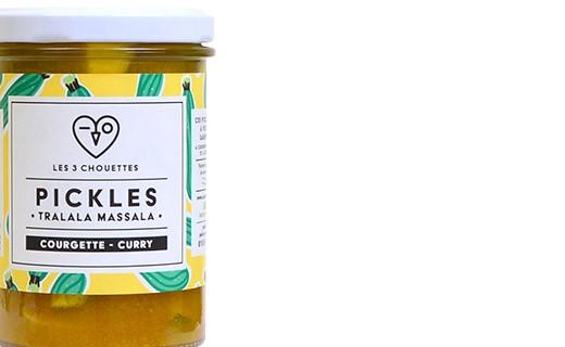 Pickles de courgette au curry - Tralala Massala  - Les 3 Chouettes