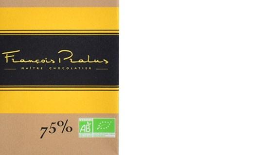 Tablette chocolat noir 75% Madagascar bio - Pralus