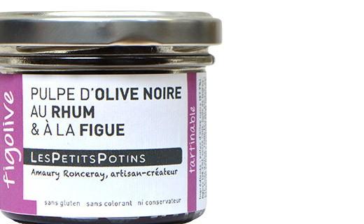 Pulpe d'olive noire au rhum et à la figue - Figolive - Les Petits Potins