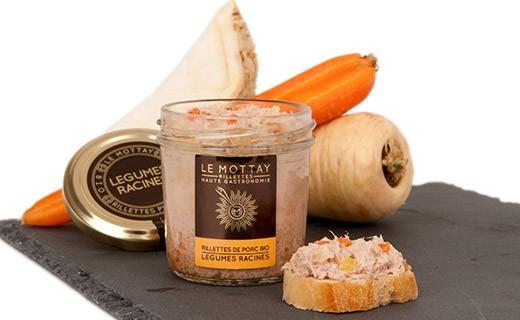 Rillettes de porc bio aux légumes racines - Comptoir Fougeray