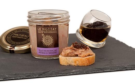 Rillettes de porc bio aux Pruneaux et à l'Armagnac - Le Mottay Gourmand