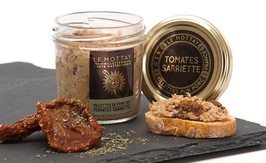 Rillettes de porc bio aux tomates séchées et à la sarriette - Le Mottay Gourmand
