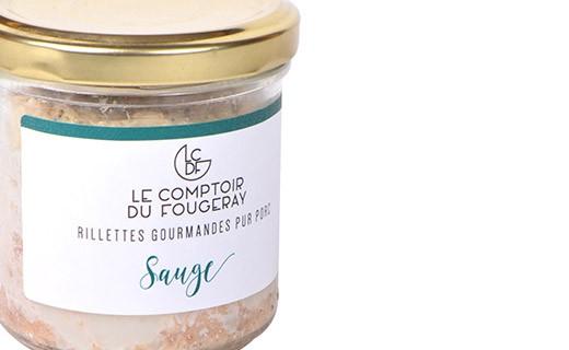 Rillettes de porc à la sauge - Le comptoir du Fougeray