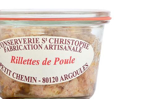 Rillettes de poule - Conserverie Saint-Christophe