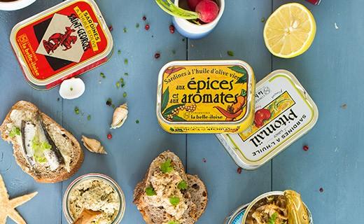 Émietté de sardine aux aubergines, ail et basilic - La Belle-Iloise