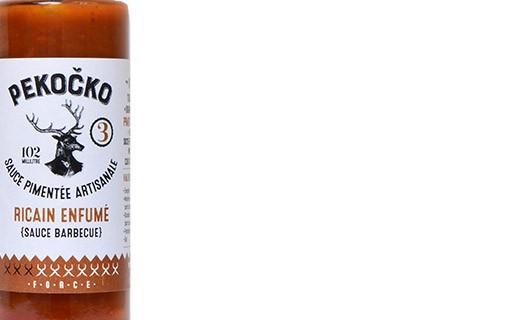 Sauce pimentée ricain enfumé - force 3 - Pekočko