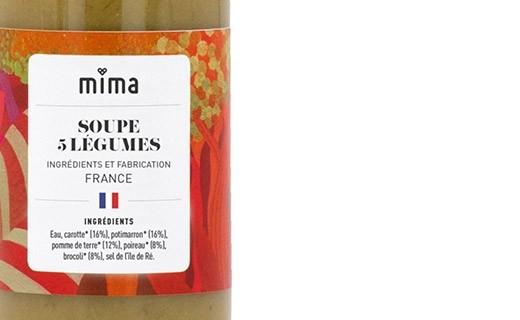 Soupe 5 légumes bio - Mima Bio