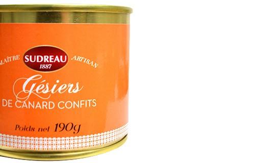 Gésiers de canard confits - Sudreau
