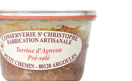 Terrine d'agneau de pré-salé - Conserverie Saint-Christophe