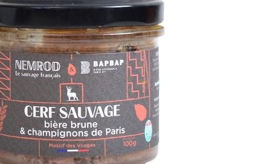 Terrine de cerf sauvage à la bière brune et aux champignons de Paris  - Nemrod